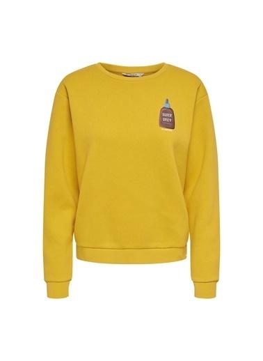 Only Sweatshirt Altın